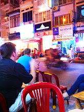 Photo: Bia Hoi bar.  12,000 dongs for a green Saigon beer at this street bar.  HCMC.