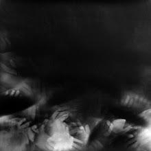 """Photo: © Olivier Perrot 1996 photogramme les mains 100x100cm extrait de la série """"les mains"""""""