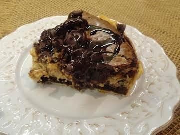 Peanut Butter Cheesecake Brownie Pie