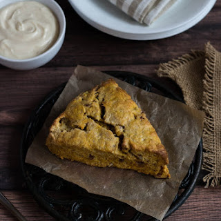 Pumpkin Pecan Scones with Maple Cream Cheese Spread