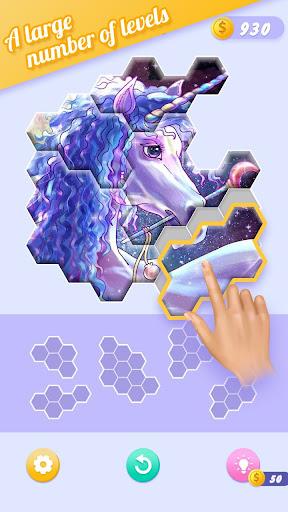 Block Jigsaw - Free Hexa Puzzle Game apkpoly screenshots 3