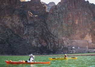 Photo: Canyon walls at Apacke Lake dam.