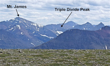 Photo: Zoom shot of mountains that I climbed the day before - photo taken from summit of East Flattop