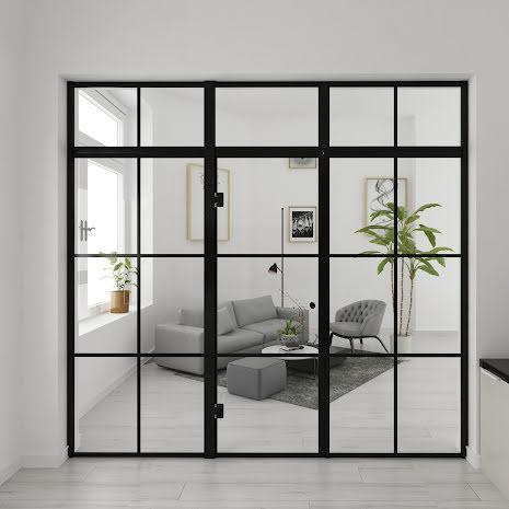 Industrivägg två väggar + en dörr + ovanliggare