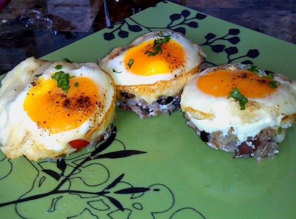 Rice N' Bean Eggy Cups Recipe