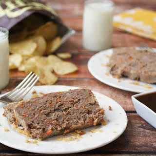 Gluten Free Potato Chip and Carrot Meatloaf.