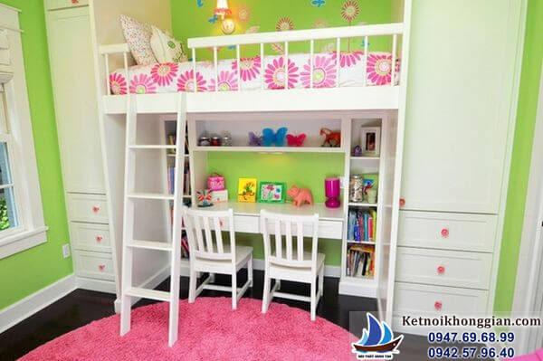 thiết kế phòng ngủ cho bé tiết kiệm không gian