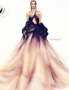 Dress Fashion Sketch Design - náhled
