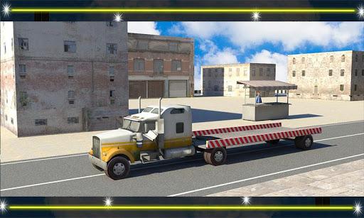 무거운 크레인 수송 트럭