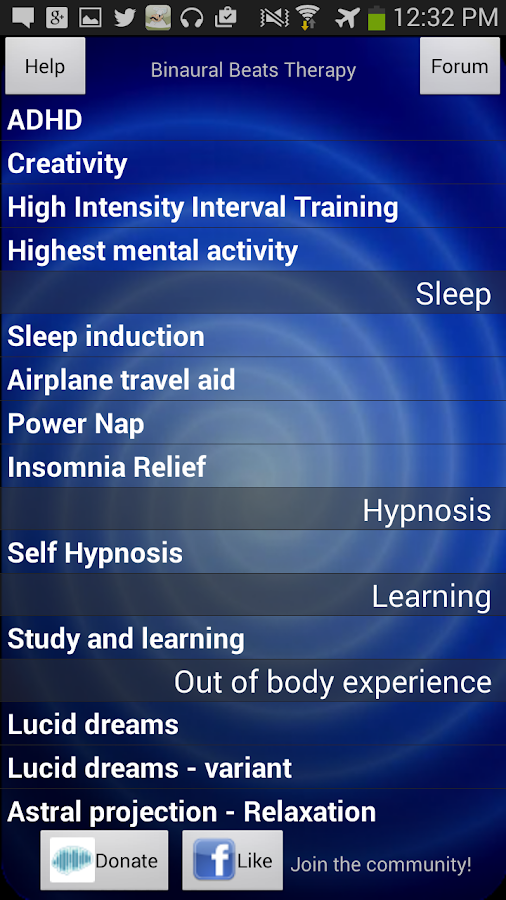 Binaural Beats Therapy- screenshot