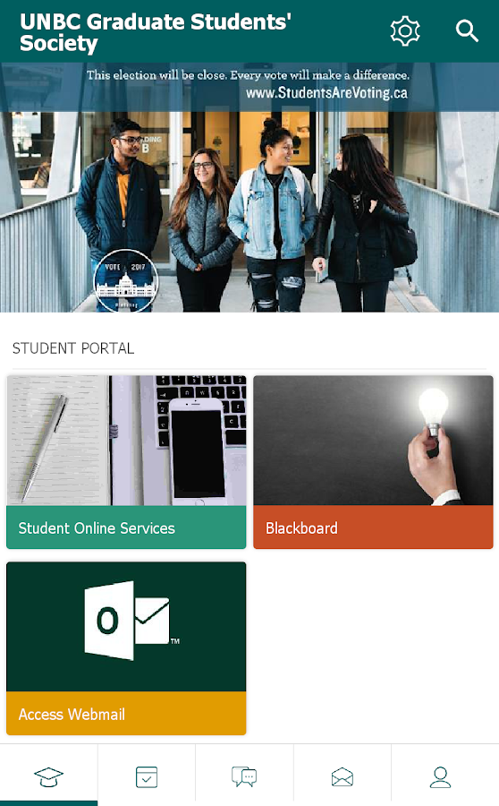 UNBC Graduate Society- screenshot
