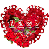 Romantic Diamond Red Rose Theme Android APK Download Free By Fantastic Design