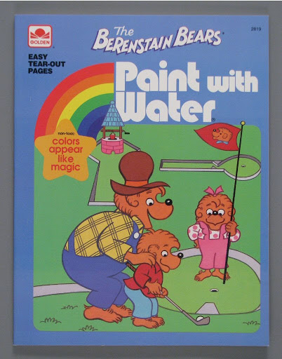Coloring book:The Berenstain Bears Paint with Water