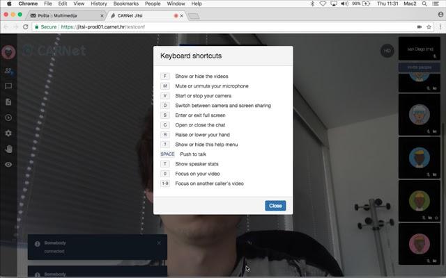CARNET Jitsi Desktop Streamer