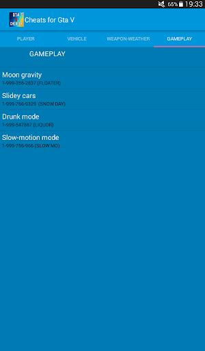 Cheats for Gta 5 1.1 screenshots 10