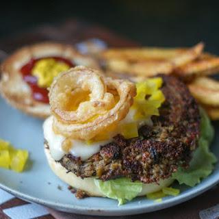 Curried Lentil Cashew Burger.