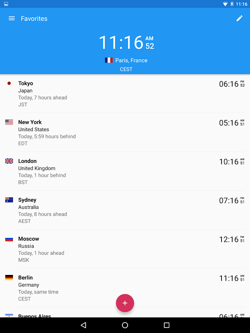 World Clock by timeanddate.com Screenshot 8