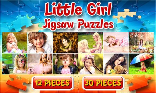小女孩拼图游戏