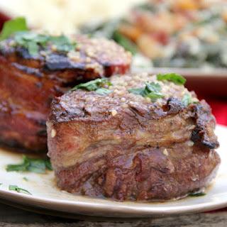 Steak with a Garlic Butter Sauce.