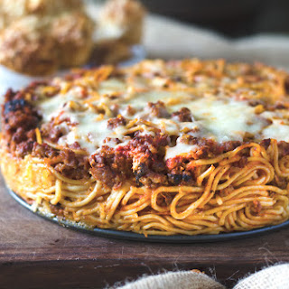 Baked Spaghetti with Pepperoni.