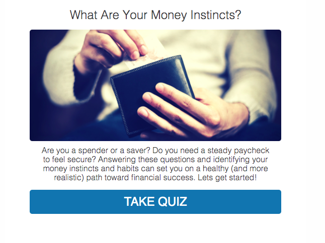 What are your money instincts? money personality quiz cover