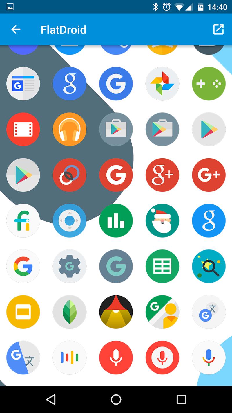 FlatDroid - Icon Pack Screenshot 5