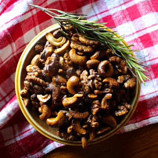 Spiced Maple Rosemary Mixed Nuts