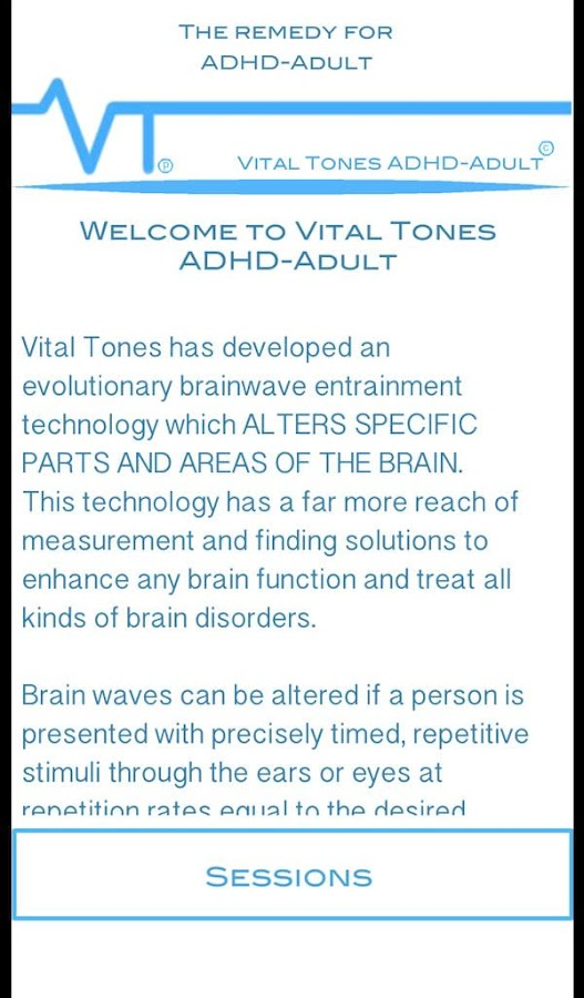 Vital Tones ADHD Adult- screenshot