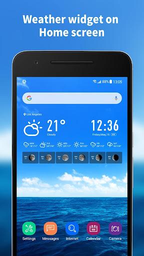 World weather widget& moon phrase information 12.1.5.3550 screenshots 3