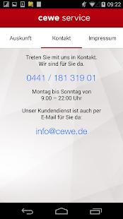 cewe service- screenshot thumbnail
