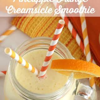 Pineapple Orange Creamsicle Smoothies.