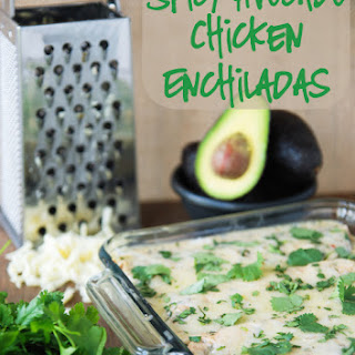 Spicy Avocado Chicken Enchiladas