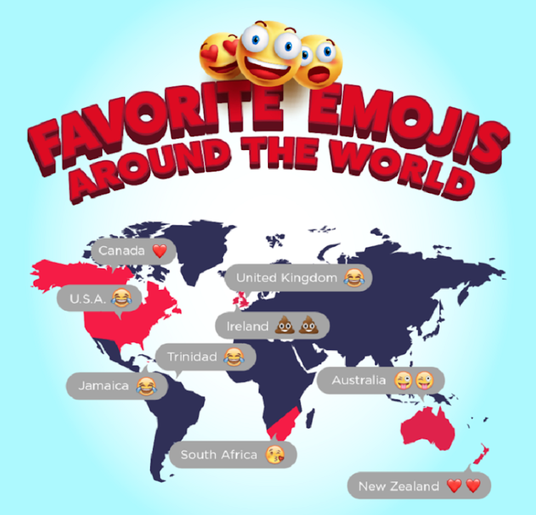 Who's a softie and who loves a good toilet humour joke? With World Emoji Day coming up on July 17, check out how mobile users share their feelings.