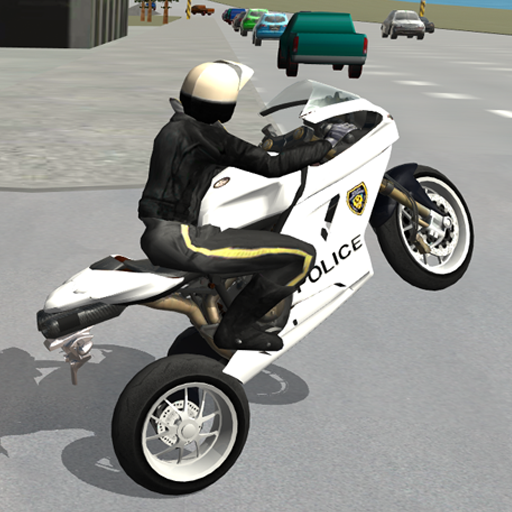 Police Motorbike Driving Simulator