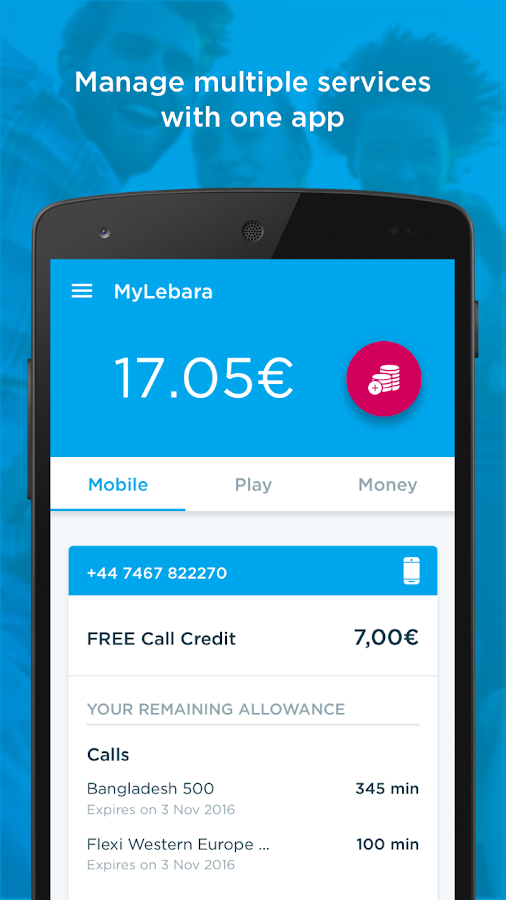MyLebara Top-up- screenshot