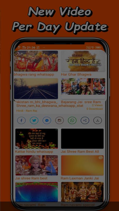 Bhagwa Video Status - Hindutva Videos For Whatsapp APK Latest
