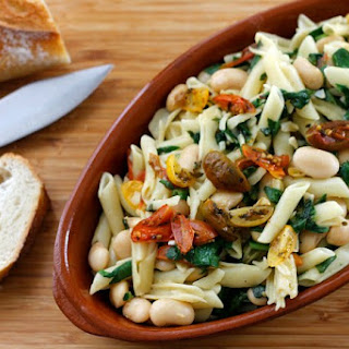 Pasta with Roasted Tomatoes and White Beans