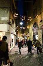 Photo: Narrow street in christmas time.