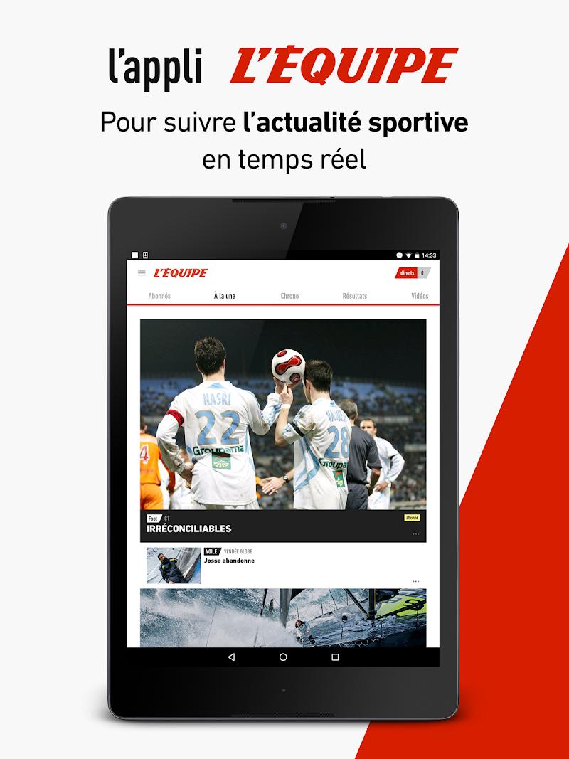 L'Équipe - Sport en direct : foot, tennis, rugby.. Screenshot 11