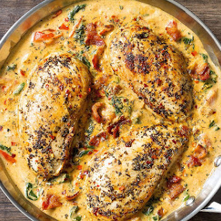 Chicken in Mozzarella Cream Sauce.