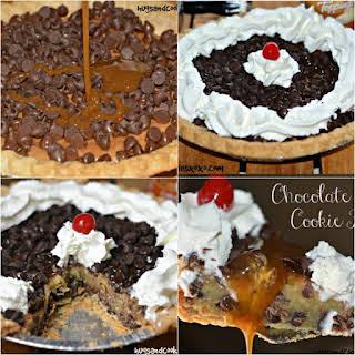 Chocolate Chip Caramel Cookie Pie.