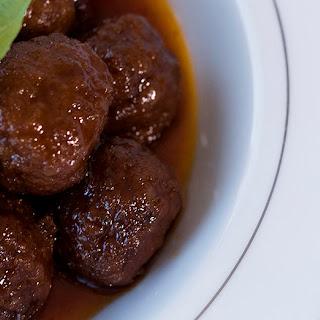 Grape Jelly Chili Meatballs.