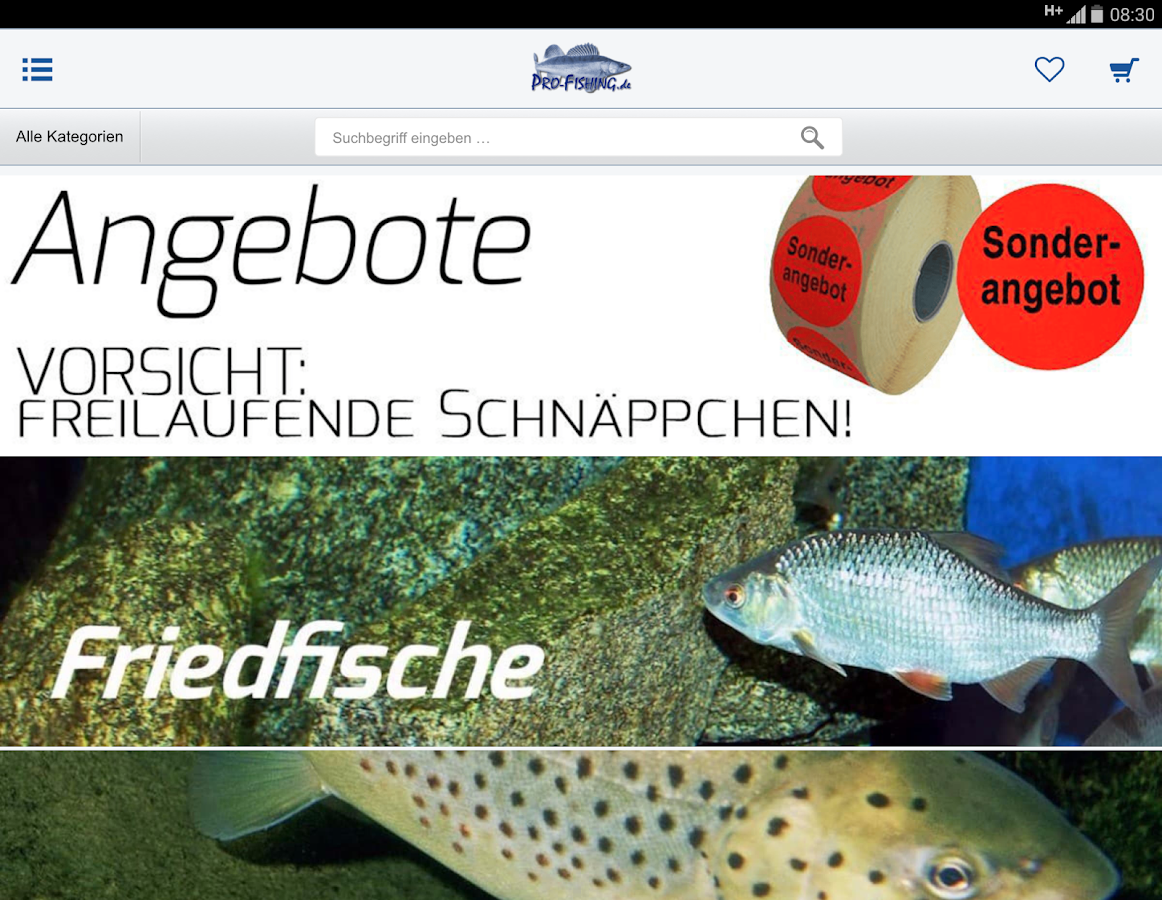 Pro-Fishing GmbH- screenshot
