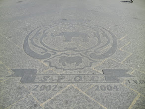"""Photo: Seen in the piazza in front of the university, """"SPQC"""" (like """"SPQR"""")"""