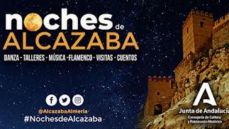 Cartel del Programa Noches de la Alcazaba 2020.