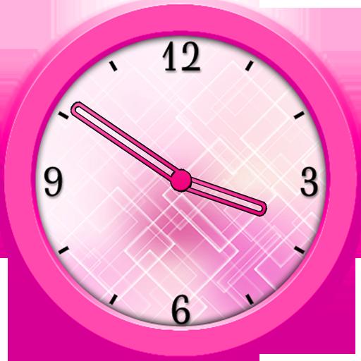 工具App|粉红色的模拟时钟小工具 LOGO-3C達人阿輝的APP