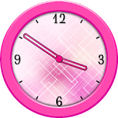 Pink Analog Clock Widget
