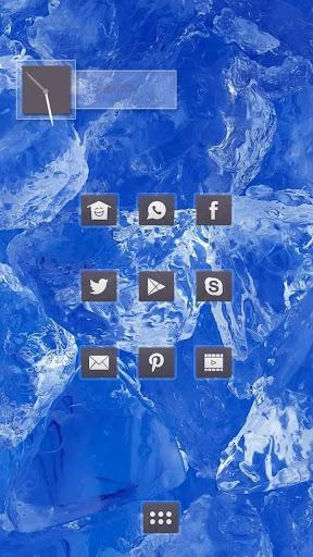 清凉蓝色冰晶主题