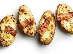 Twice Baked Potatoes With Bacon And Eggs Recipe