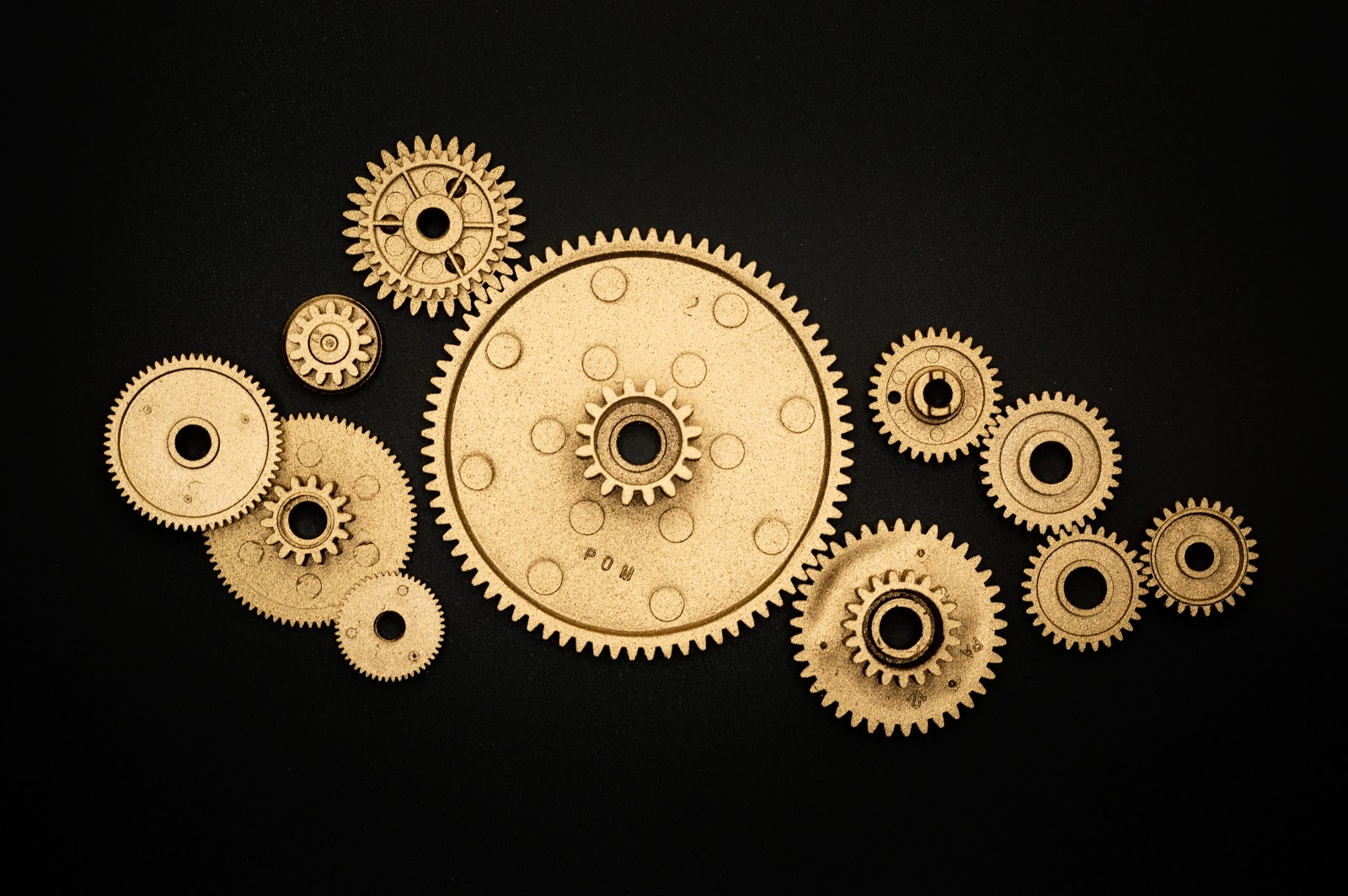A collection of gears.